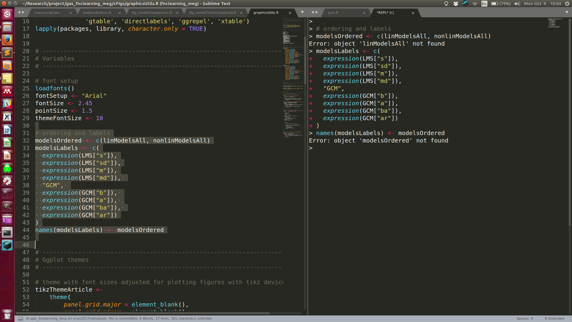 Sublime text 3 editor interface